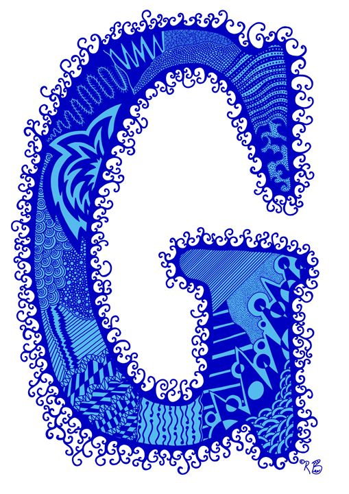 Letter G - blue - Rebecca Bear