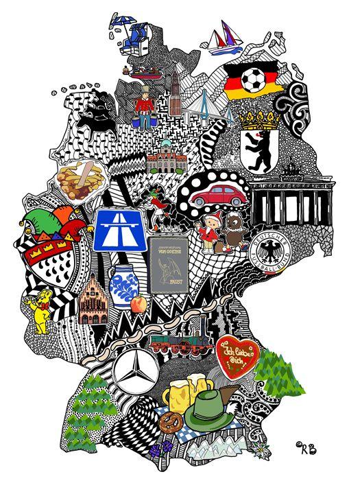 Germany Doodle - Rebecca Bear