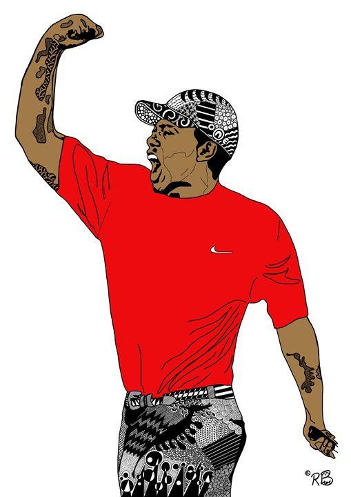 Tiger Woods - Rebecca Bear