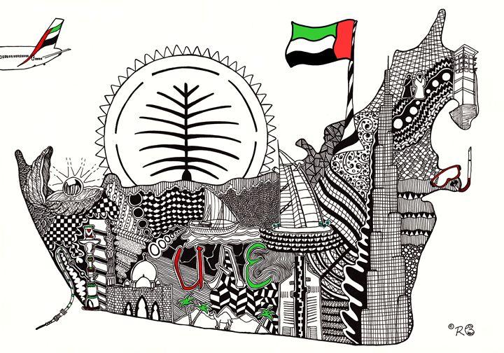 UAE doodle - Rebecca Bear
