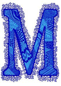 Letter M blue