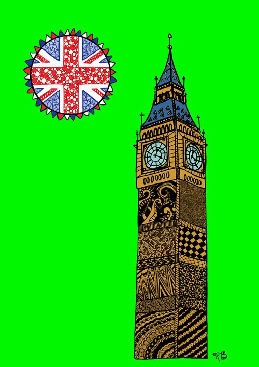 Big Ben - green - Rebecca Bear