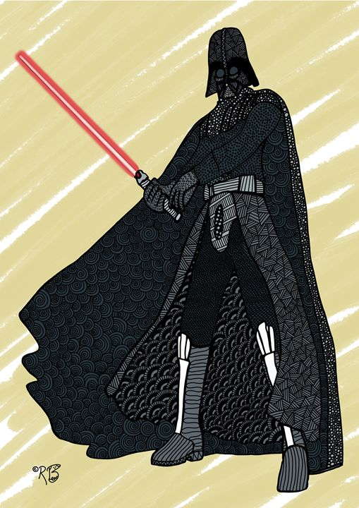 Darth Vader Doodle - Rebecca Bear