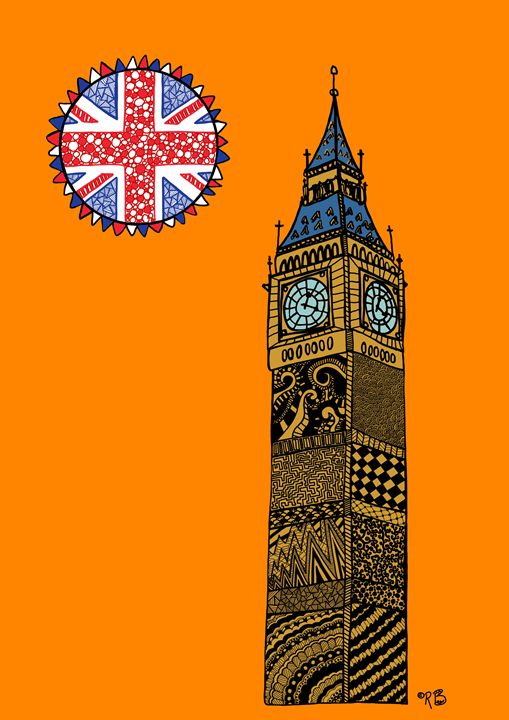 Big Ben - orange - Rebecca Bear