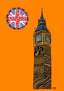 Big Ben - orange