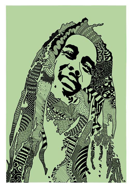 Bob Marley green - Rebecca Bear