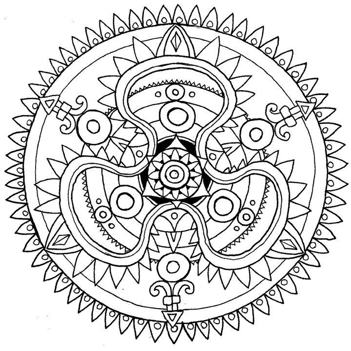Silver Mandala - Illustration & Art