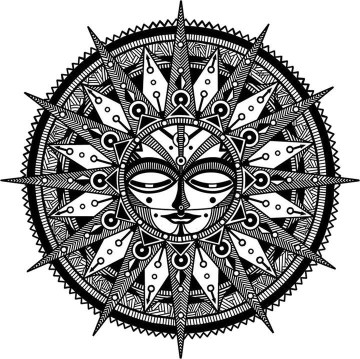 Sun Mandala - Illustration & Art