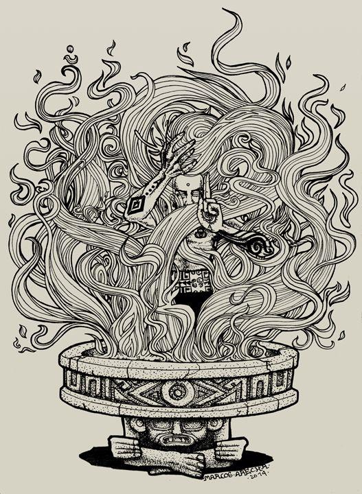 The Fire - Illustration & Art