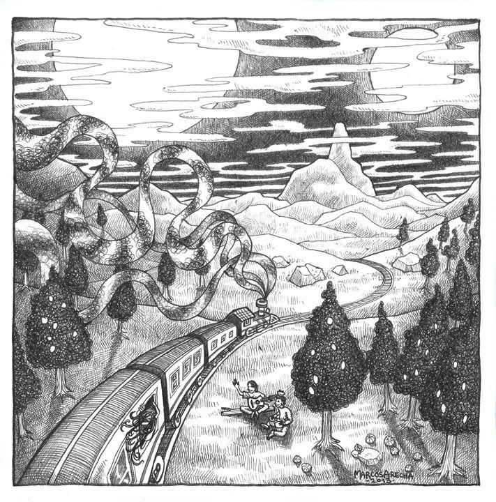 Blue Valley - Illustration & Art