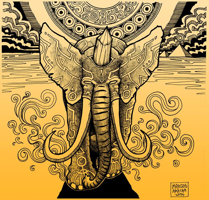 Elephant Guardian - Illustration & Art