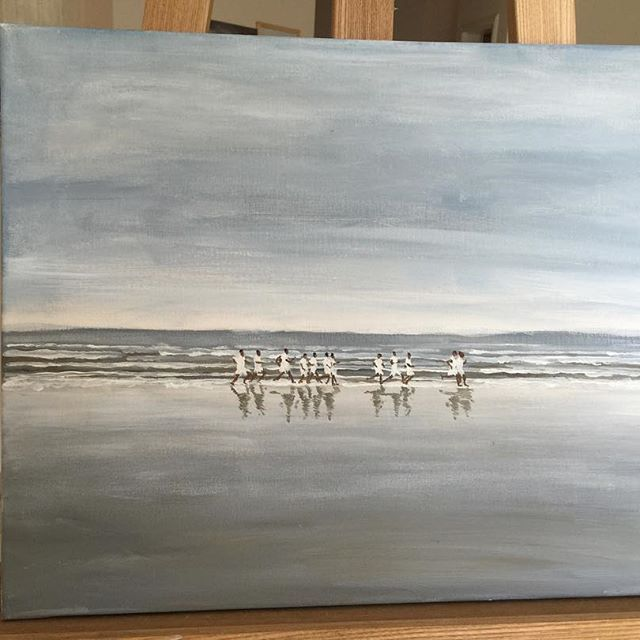 Athlets at the sea side SOLD - Jane