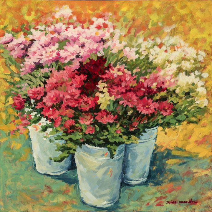 FLOWERS IN BUCKETS - MIAE MARTIN