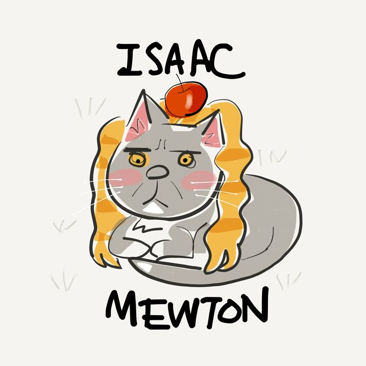 Isaac MEWton - dailycatfeine