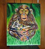 22x28in abstact monkey