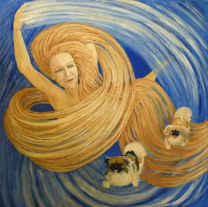 Lynne with Dogs as the Wind