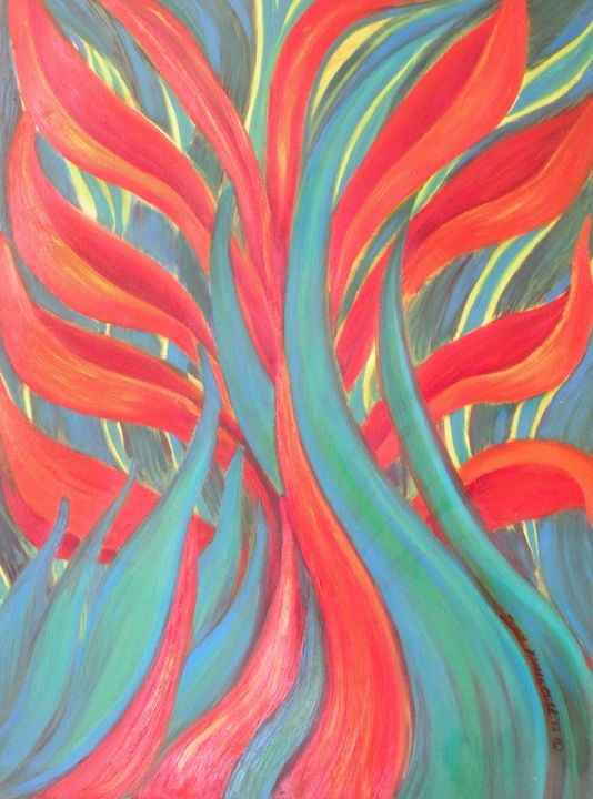 Fire Leaf - Zachia Middlechild Art