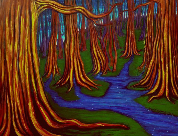 In the Woods - Zachia Middlechild Art