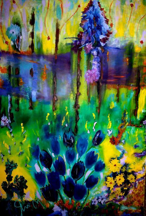 Blue Tulips - Vividartbyjen