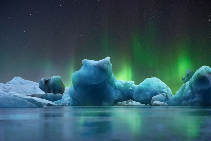 North pol Aurora Borealis - Lenz Landscape
