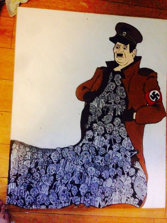 Hitler painting x - Mixy