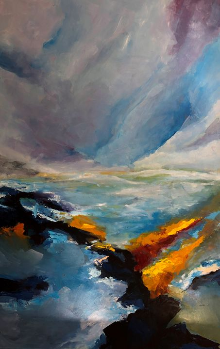 Sunlight on waves - Hal Sadler Fine Art