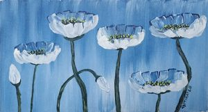 Poppy Flowers - Gitika Singh's paintings