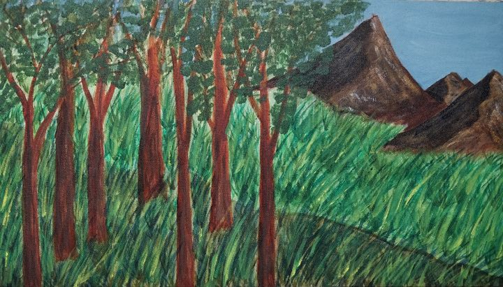 Mountain Ridge - Gitika Singh's paintings
