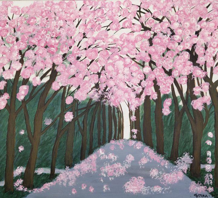 Cherry Blossom - Gitika Singh's paintings