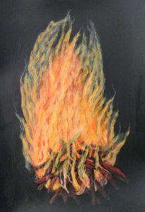 Bonfire original painting