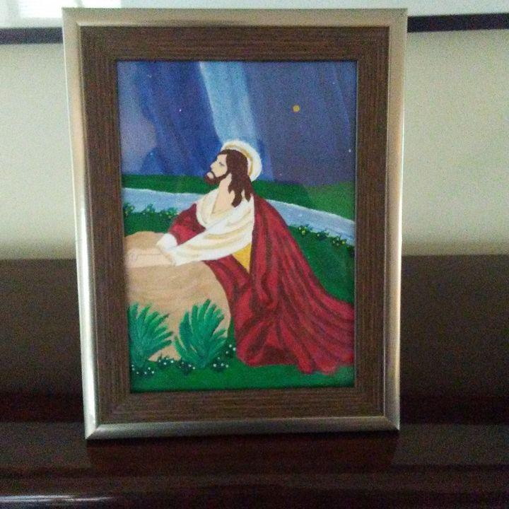 Jesus in the garden - Don's Paintings