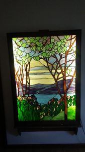 stain glass 4 by 6- 500 pieces- box