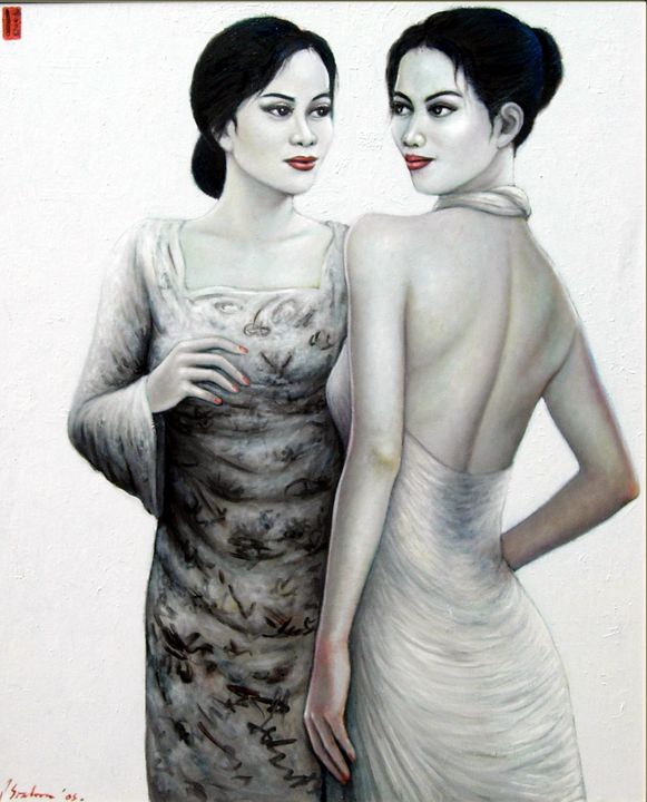 Two Women in Dialog - Stephanie Gallery