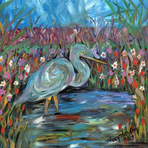 Blue Heron - Stacy Handley