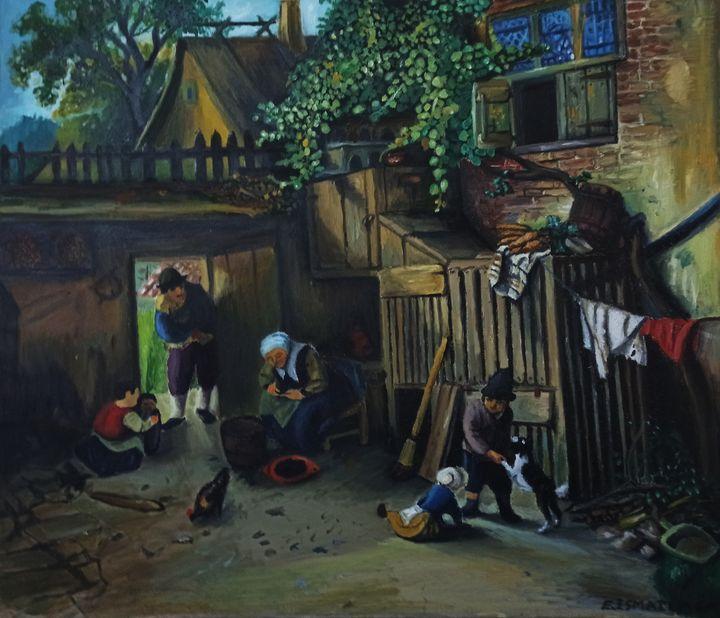 The Daily Life of a Village - elvi.art
