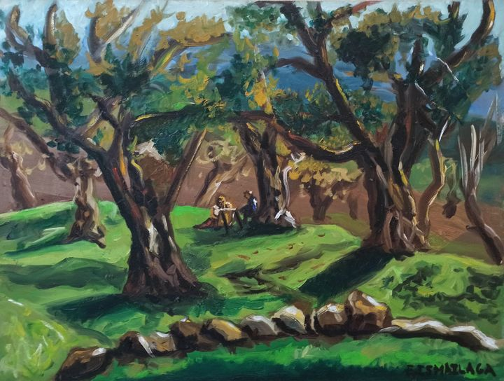 Olive trees in Spring - elvi.art