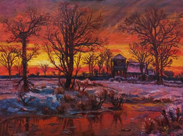 Sunset in Winter - elvi.art