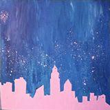 "35"" x 35"" Acrylic Painting on Canvas"