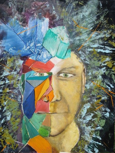Fractured portrait - Leonard Dyer Artworks