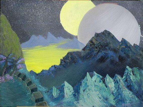 Twin Moons - Leonard Dyer Artworks