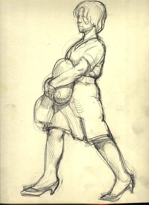 Working Lady. - Ralf Drawings.