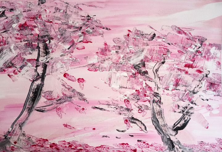 Abstract Cherry Blossoms - At home with M