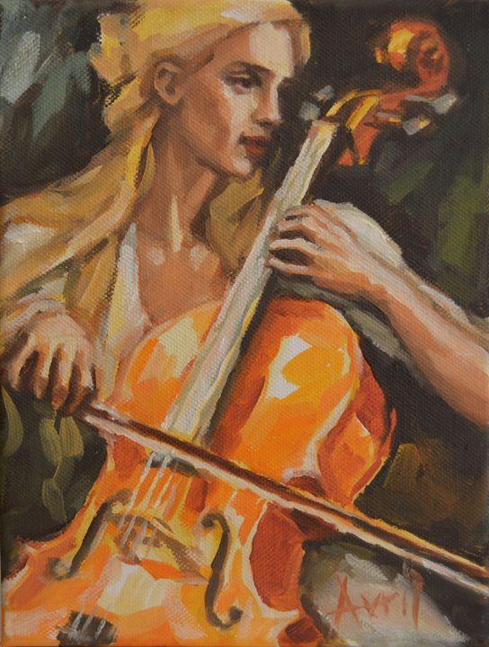 Yellow Haired Cellist - Avril Hattingh