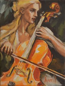 Yellow Haired Cellist