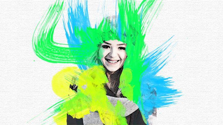 Water Color Portrait - DigitalArtDesigns
