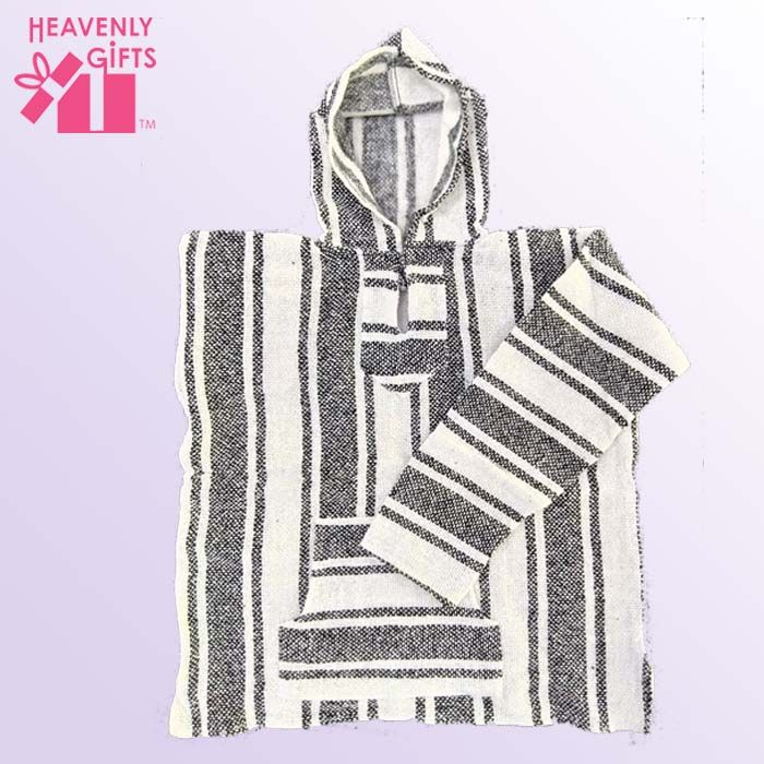 Medium Gray White Baja Hoodie - Heavenly Gifts USA