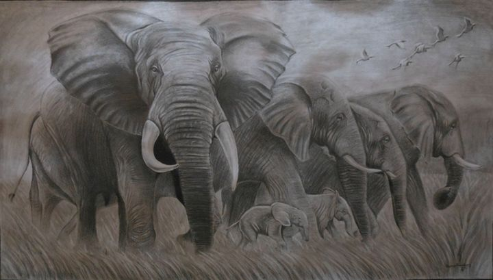 Pencil shading-Elephant - Suganya Govindasamy