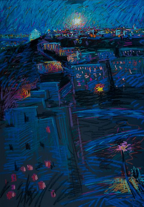 Night Roofs - Expressionism