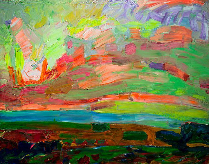 Spring steppe - Expressionism