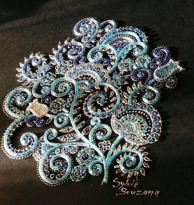 mosaïque perles de rocaille - Bouzana Léandre